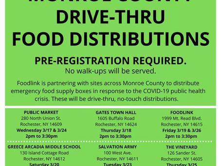 Drive-Thru Food Distribution Information