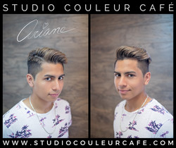 coupe homme bleach mèches