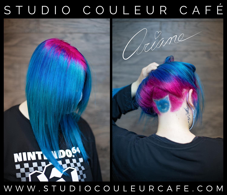 undercut hair color pink