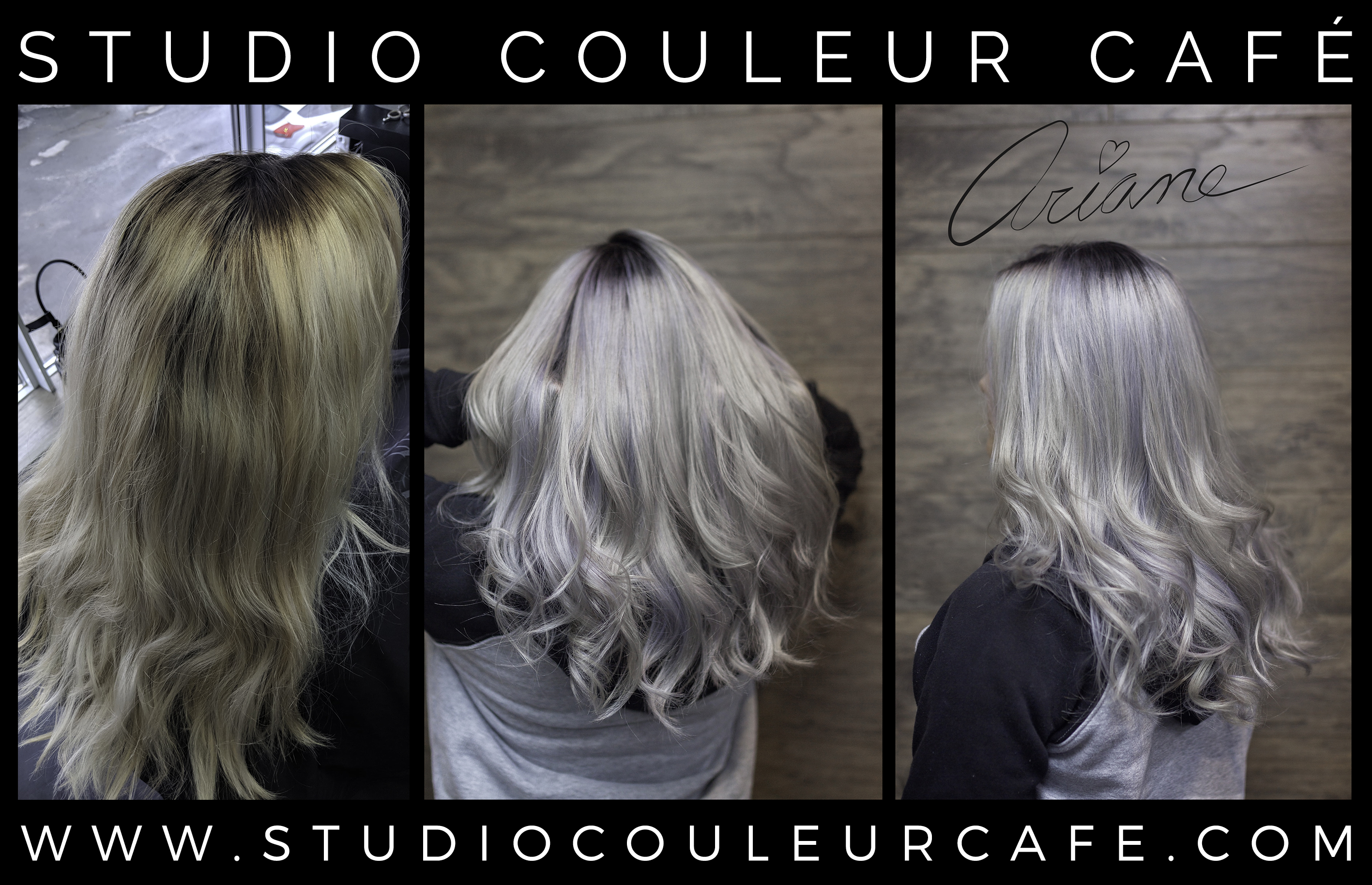 gris coloration bleach