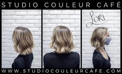 balayage cheveux court