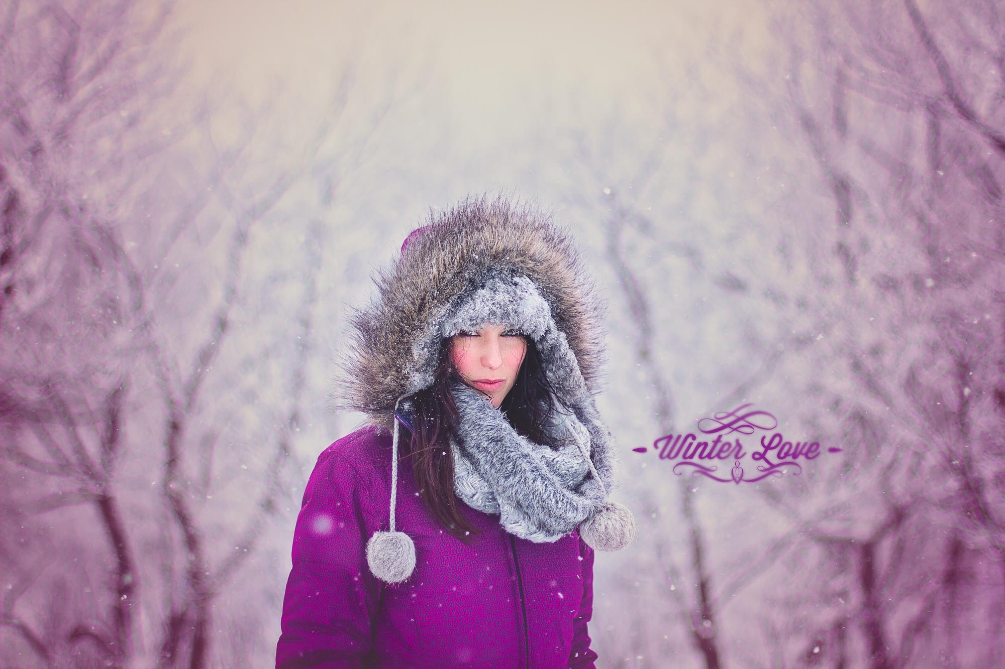 portrait femme hiver