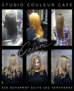 Métamorphose noir à blond