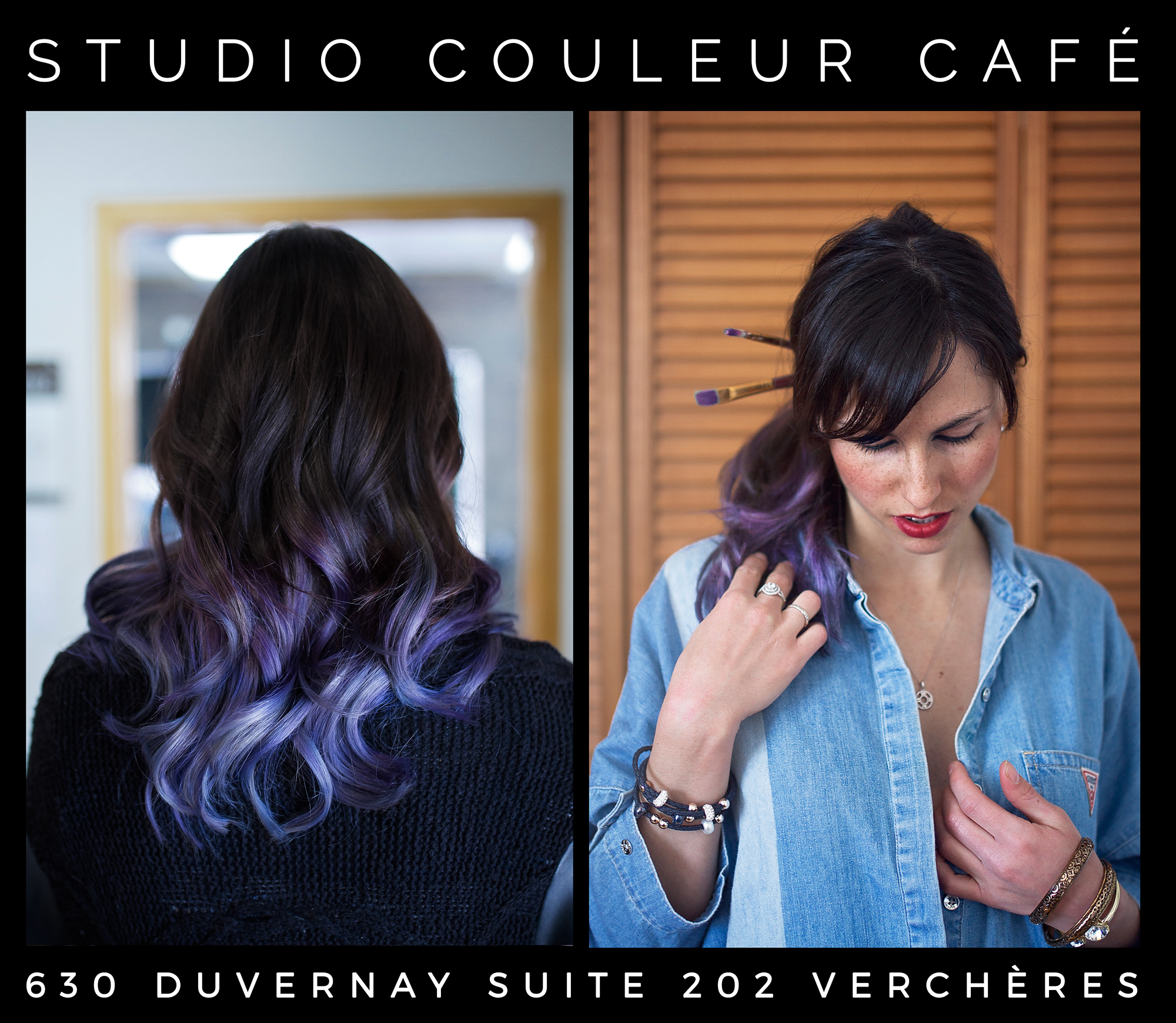 ombré mauve bleu artic fox