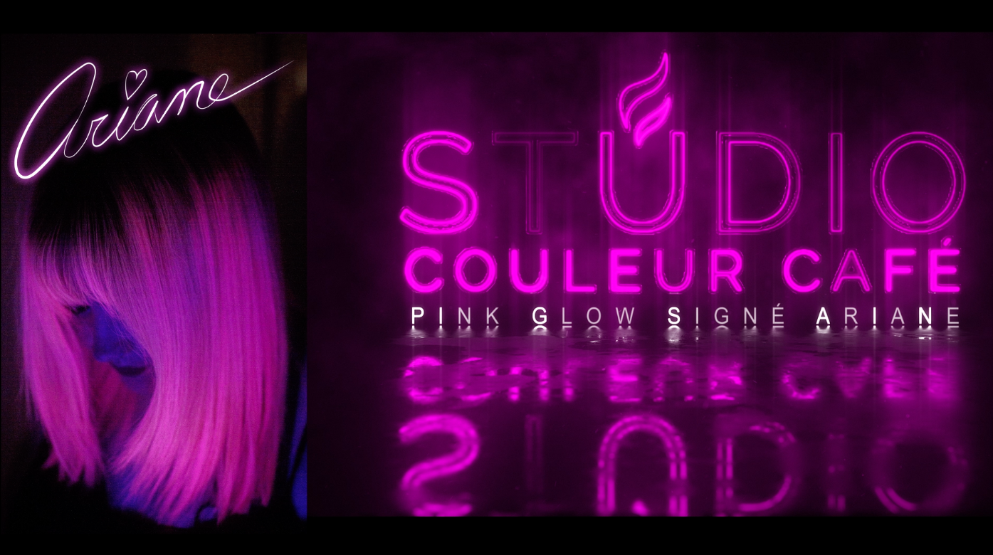 pink glow fluo hair cheveux