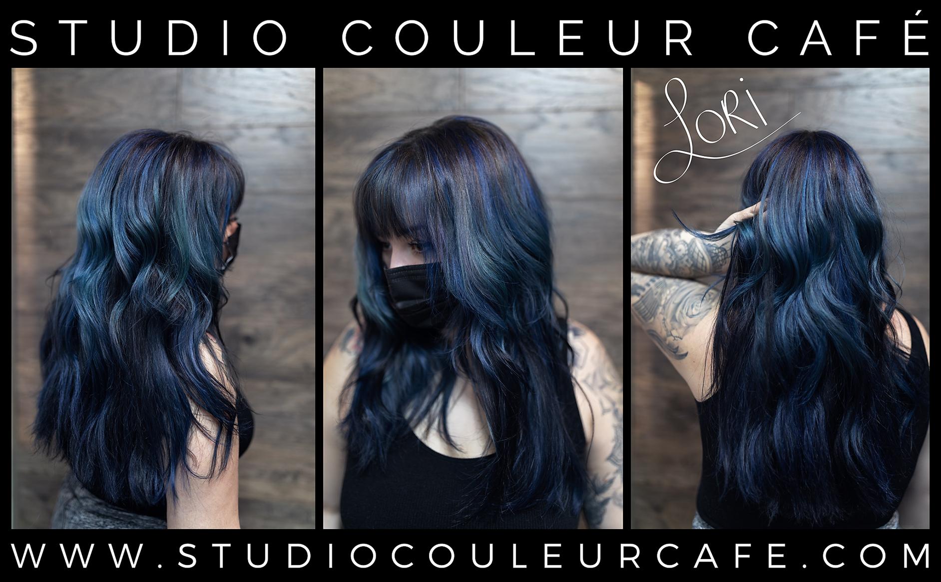 coloration bleu blue hair