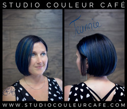 saphir bleu cheveux