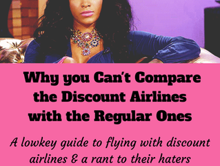 Why you Can't Compare the Discount Airlines with the Regular Ones