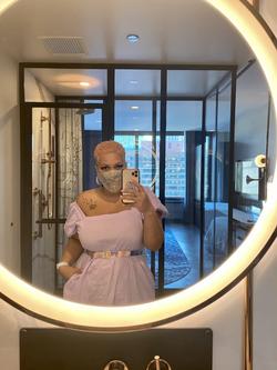 Lavender Puff Sleeve dress