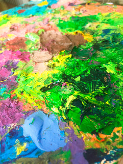 Mishell Leong Art, palette, Courage