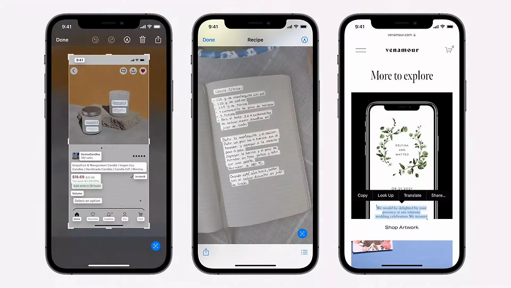 ios 15 live text. iphone belgeden yazı tarama, camscanner iphone, live text, livetext