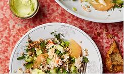 Crab, grapefruit, and buckwheat salad.pn