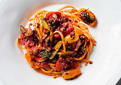linguine with nduja and tomatoes recipe.