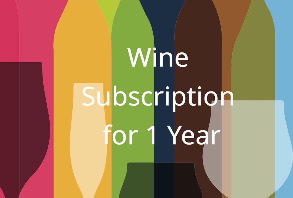 1 Year Wine Subscription