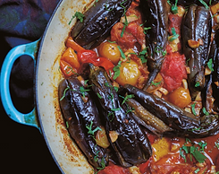 Serdakh Aubergines and tomatoes.png
