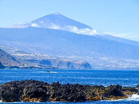 View of Mount Teide and the valley of La