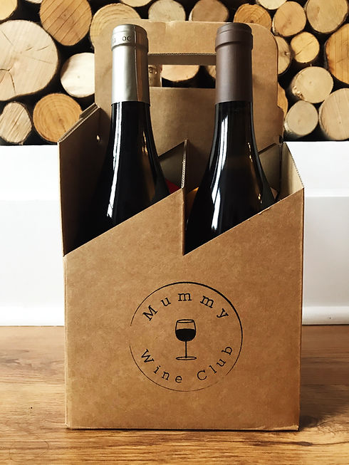 Wine subscription box of Mummy Wine Club