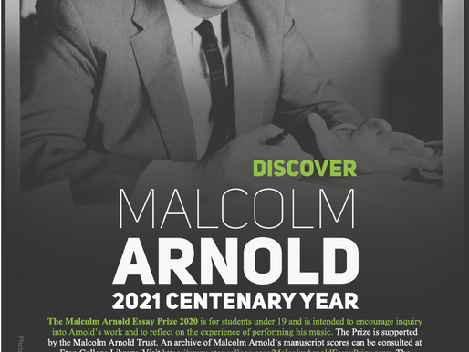 The Malcolm Arnold Essay Prize 2021