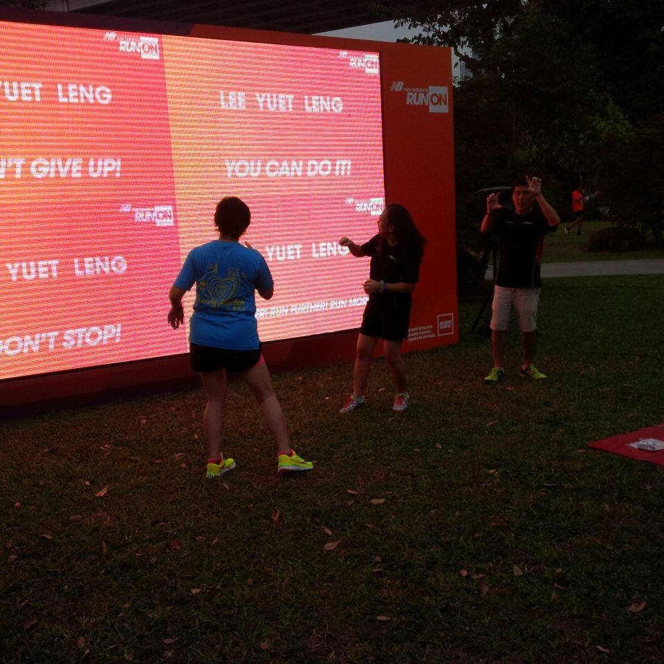 new balance run rfid triggered video wall