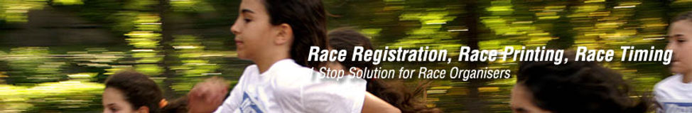 Race Registration, Race Printing, RFID Race Timing, 1 one stop solution for race organisers organizers