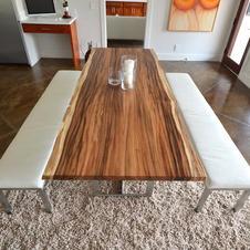 Monkey Pod Slab Table