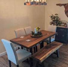 Parota Slab Table With Bench