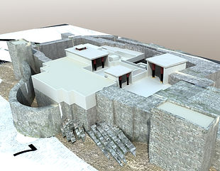 Tirynthe, cité antique de Grèce, reconstituée..