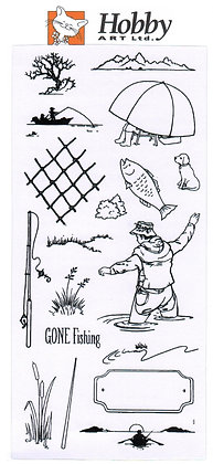 Hobby Art Clear Stamps - Gone fishing