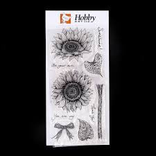 Hobby Art Clear stamps Sunflowers