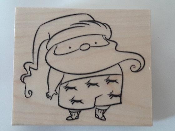 Houten Stempel Kerstman in Boxershort