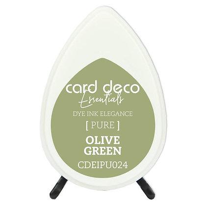 Olive green inktkussen van Card deco