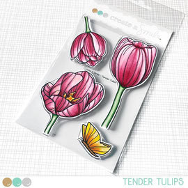 Tender Tulips clear stamps Create a smile