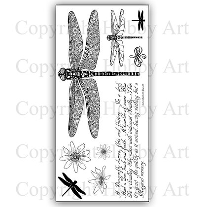 Dragonflies Hobby Art Clear stamps