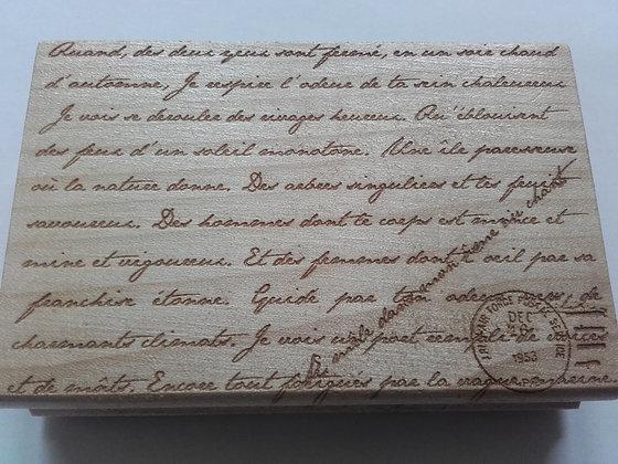 Houten Achtergrondstempel Handgeschreven