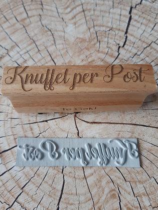 Houten stempel; Knuffel per post