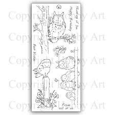 Woodland Owls van Hobby Art Clear stamps