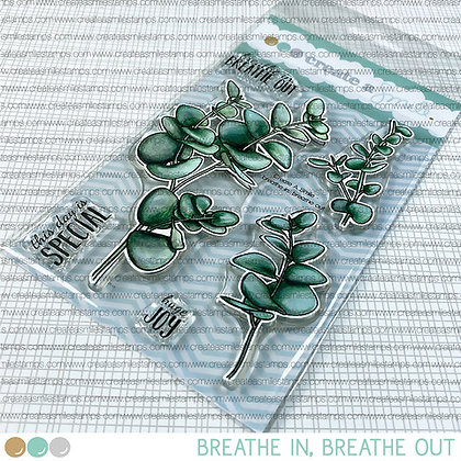 Breathe in Breathe out stamps Create a smile