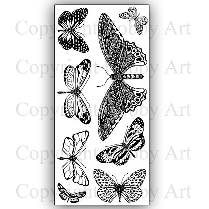 Butterflies Janie's Hobby Art Clear stamps