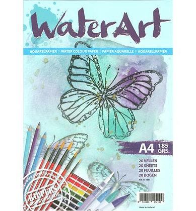 WaterArt aquarelpapier A4 185 gr 20 vel