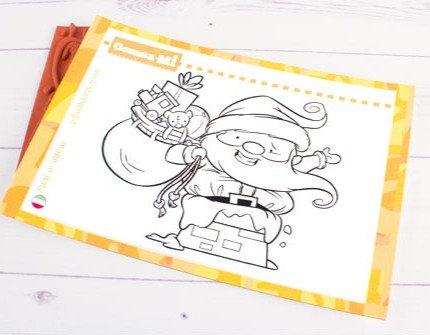 Kerstman in schoorsteen