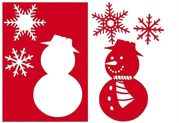 Sjabloon Sneeuwpop A6