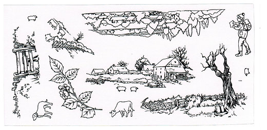 Hobby Art Clear Stamps - Country Ramble