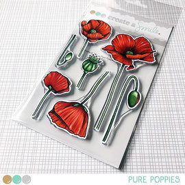 Pure Poppies clear stamps Create a smile
