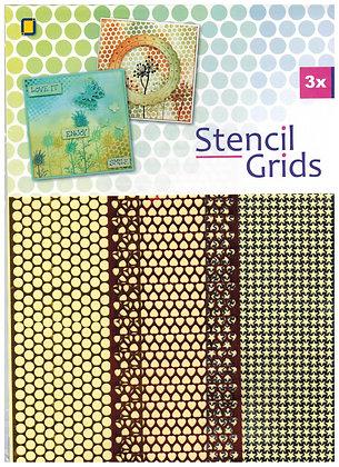 Sjabloneerband / gaas 3 motieven / Stencil Grids