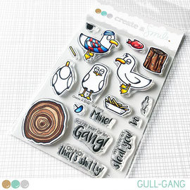 Gull Gang clear stamps Create a smile