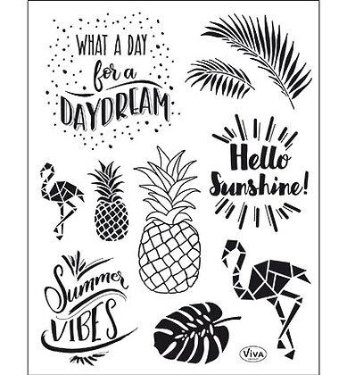 Viva clear stamp set Summer Vibes