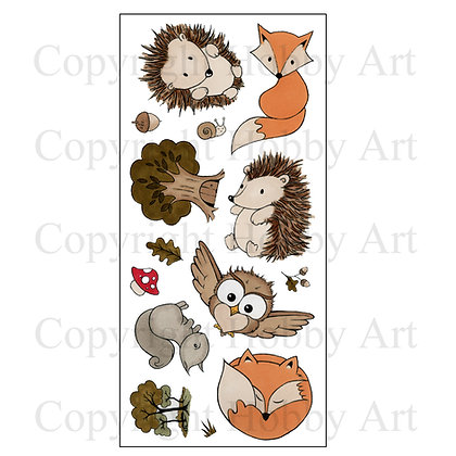 Forrest Friends Hobby Art Clearstamps