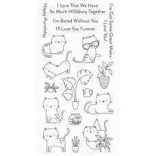Schattige House cats clear stamps