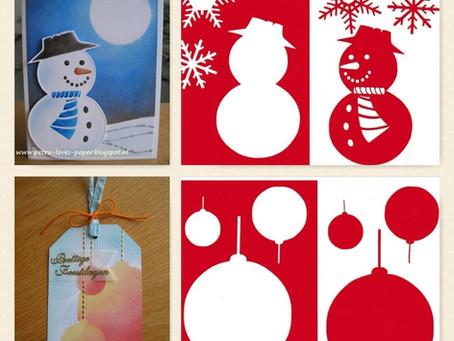 De nieuwe unieke Kerst/Winter Sjablonen