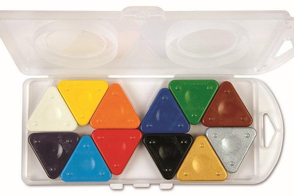 Box Te Gekke Krijtjes Basiskleuren + goud + Zilver